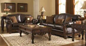 North Shore 22603KIT6PC 6-Piece Living Room Set with Sofa, Loveseat, Cocktail Table, 2 End Tables and Sofa Table in Dark Brown