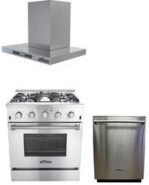 3-Piece Stainless Steel Kitchen Package with HRG3026U 30