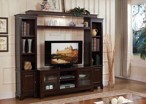 Halden 91090SET 2 PC Entertainment Center with TV Stand + Entertainment Center in Merlot Finish