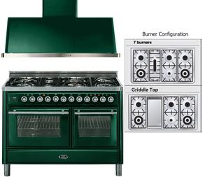 2-Piece Emerald Green Kitchen Package with UMT120FDMPVS 48