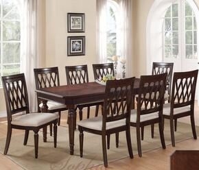 Sophia SOPTAB8CHR Dining Set Including Dining Table and 8 Chairs with Carved Detailing and Turned Legs