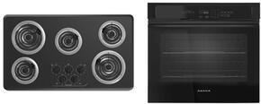 "2-Piece Kitchen Package with ACC6356KFB 36"" Electric Cooktop and AWO6313SFB 30"" Electric Single Wall Oven in Black"
