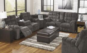 Jocelyn Collection MI-5738SET-SLAT 2-Piece Living Room Set with Sectional Sofa and Swivel Rocker Recliner in Slate