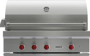 "OGCART42LP 42"" Gas Grill with Cart, 3 Individually Contained Grill Burners, 2-Position Infrared Rotisserie, Infrared Sear Zone, LED-lit Control Knobs and Stainless Steel Construction: Liquid Propane"