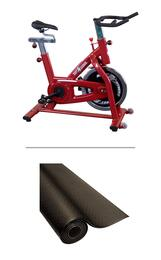 BFSB5-RF34B Set with Best Fitness Indoor Training Cycle + Bike Mat