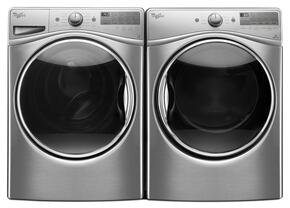 "Diamond Steel Front Load Laundry Pair with WFW92HEFU 27"" Washer and WED92HEFU 27"" Electric Dryer"