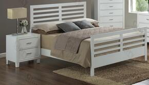 G1275CTB2N 2 Piece Set including Twin Size Bed and Nightstand  in White
