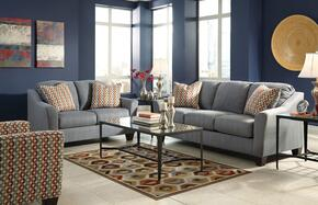 Victoria Collection MI-2785QSSLAC-LAGO 3-Piece Living Room Set with Queen Sofa Sleeper, Loveseat and Accent Chair in Lagoon