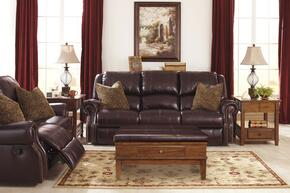Walworth U78002PSL 2-Piece Living Room Set with Power Reclining Sofa and Power Reclining Loveseat in Blackcherry