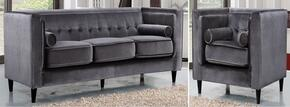 Taylor Collection 642-GRY-S-L 2 Piece Living Room Set with Sofa and Chair in Grey