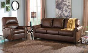 Lottie DuraBlend 380002539SET 2-Piece Living Room Set with Rocker Recliner and Queen Sofa Sleeper in Chocolate