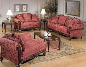 Fairfax 50330SLC 3 PC Living Room Set with Sofa + Loveseat + Chaise in Momentum Magenta Color