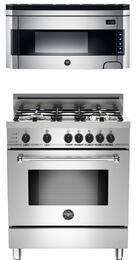 "2-Piece Stainless Steel Kitchen Package with MAS304DFSXT 30"" Natural Gas Dual-Fuel Range and KO30PROX 30"" Over-the-Range Microwave"