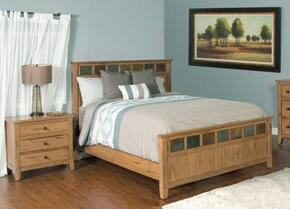 Sedona Collection 2334ROKBBEDROOMSET 2-Piece Bedroom Set with King Bed and Nightstand in Rustic Oak Finish