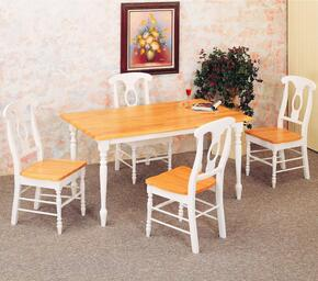4147SET17 Damen 5 Pcs Dining Set (Table and 4 Side Chairs)