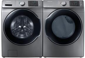 "Platinum Front Load Laundry Pair with WF45M5500AP 27"" Washer and DVG45M5500P 27"" Gas Dryer"