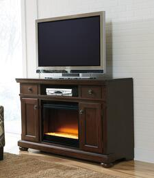 Audrey Collection EN-160-90F12 2-Piece Set with TV Stand and Fireplace Insert in Rustic Brown