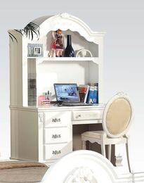Flora Collection 01687DHC 3 PC Student Desk Set with Computer Desk + Hutch + Chair in White