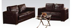 Brayden Collection 5168SL 2-Piece Living Room Set with Sofa and Loveseat in Dark Brown