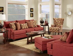 63272603SOCAC Pescara Sofa + Chair + Ottoman + Accent Chair with 8.5 Gauge Medium Loop Wire Construction, Attached Seat Cushions, Toss Pillows and Hardwoods in Panetta Paprika