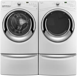 White Front Load Laundry Pair with WFW7540FW 27