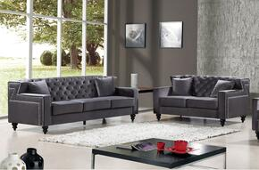 Harley Collection 6162PCSTLKIT2 2-Piece Living Room Sets with Stationary Sofa, and Loveseat in Grey