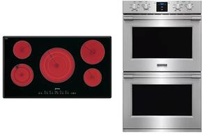 """2-Piece Kitchen Package With S2951TCU 36""""  Electric Cooktop and DOU330X1 27"""" Electric Double Wall Oven"""