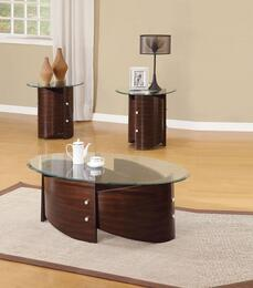 Dajon 80193CE 3 PC Living Room Table Set with Coffee Table + 2 End Tables in Espresso Finish