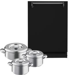 "Legacy ALTTDWBLK 24"" Fully Integrated Built-In Dishwasher + AGA 3-Piece Cookware Set"