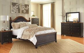 Maxington Queen Bedroom Set with Panel Bed, Dresser, Mirror and Single Nightstand in Brown