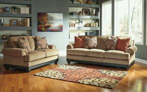 Elnora Collection 93702SL 2-Piece Living Room Set with Sofa and Loveseat in Umber