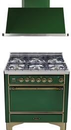 2-Piece Emerald Green Kitchen Package with UMC906DMPVSY 36