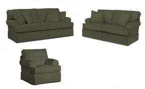 Emily 6262QASLC/4022-95 3-Piece Living Room Set with Queen Air Dream Sleeper, Loveseat and Chair in 4022-95 Grey