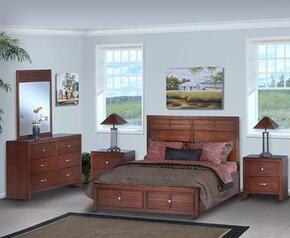 05060FBDMNN Kensington 5 Piece Set with Full Storage Bed, Dresser, Mirror and Two Nightstands, in Burnished Cherry