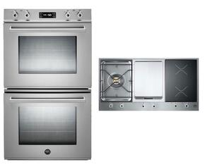 "Professional 2-Piece Stainless Steel Kitchen Package with FD30PROXE 30"" Double Electric Wall Oven and PM361IGX 36"" Electric/Gas Cooktop"
