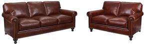 Harrison Collection L6751Q001579SL 2-Piece Living Room Set with Sofa and Loveseat in Brown with Affinity Finish