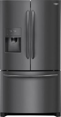 Frigidaire FGHD2368TD Gallery 36 Counter Depth French Door Refrigerator (Black Stainless Steel)