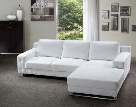 VIG Furniture VG2T0680  Sofa and Chaise Leather Sofa