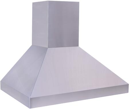 Prestige Pyramid Classic PCX240 Chimney Wall Mount Hood Optional Internal/In-Line/Remote Blowers, 3 Speed Fan Control, Seamless Flue Duct, Blowers & Flue Duct Sold Separately, In Stainless Steel