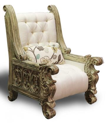 Peninsula Home Collection OC0381001 Decorative Fabric Wood Frame Accent Chair