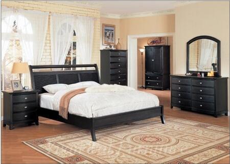 Yuan Tai HT2500QTVSET Hilton Series 5 Piece Bedroom Set