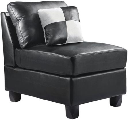 Glory Furniture G643AC Bycast Leather  in Black