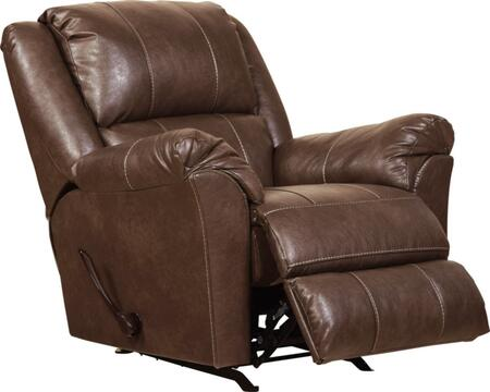 "Jackson Furniture Sullivan Collection 3188-11- 41"" Rocker Recliner with Faux Leather Upholstery, Saddle Bag Arms and Decorative Double Needle Luggage Stitching in"