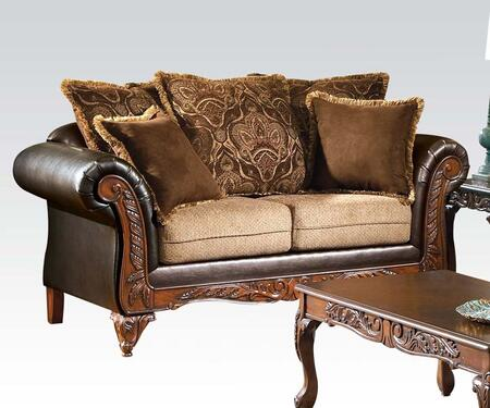 Acme Furniture 50341 Fairfax Series Fabric  Loveseat