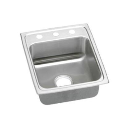 """Elkay LRADQ1720550 17"""" Top Mount Self-Rim Single Bowl ADA Compliant 18-Gauge Stainless Steel Sink"""