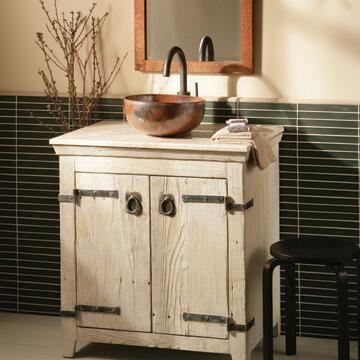 "Native Trails VNB36 36"" Americana Vanity with Handcrafted Design, Recycled Wood, Large Storage Compartment and Finished in"