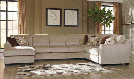 Milo Italia Jazmyn MI-3447ATMP 4-Piece Sectional Sofa with X Arm Facing Chaise, Armless Sofa, Wedge and X Arm Facing Loveseat in Fleece Color