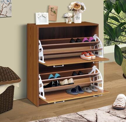 4D Concepts 76X55F Deluxe Double Shoe Cabinet, Holds up to 24 Pairs of shoes, 10 Pairs of Men Shoes
