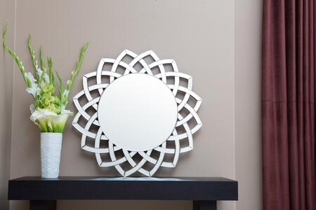 Abbyson Living TMGC8022MIR Troy Series Round Both Wall Mirror |Appliances Connection