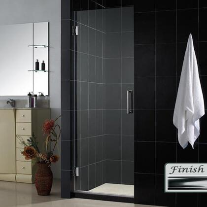 DreamLine SHDR-20247210F Unidoor Frameless Hinged Shower Door With Self-Closing Solid Brass Wall Mounted Hinges, Reversible For Right or Left Door Opening & In